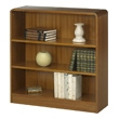 Safco 3-Shelf Radius-Edge Veneer Bookcase 1522MO (Medium Oak) ES3248