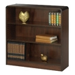 Safco 3-Shelf Radius-Edge Veneer Bookcase 1522WL (Walnut) ES3249