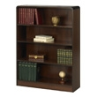 Safco 4-Shelf Radius-Edge Veneer Bookcase 1523WL (Walnut) ES3252