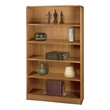 Safco 5-Shelf Radius-Edge Veneer Bookcase 1524MO (Medium Oak) ES3254