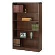 Safco 5-Shelf Radius-Edge Veneer Bookcase 1524WL (Walnut) ES3255