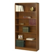 Safco 6-Shelf Radius-Edge Veneer Bookcase 1525MO (Medium Oak) ES3257