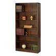 Safco 6-Shelf Radius-Edge Veneer Bookcase 1525WL (Walnut) ES3258