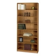 Safco 7-Shelf Radius-Edge Veneer Bookcase 1526MO (Medium Oak) ES3260
