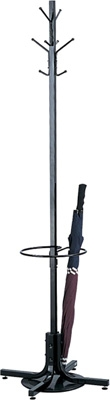 Safco Costumer with Umbrella Stand 4168BL (Black)