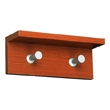 Safco Contempo Wood Wall Rack, 2 Hook 4220CY (Cherry) ES3312