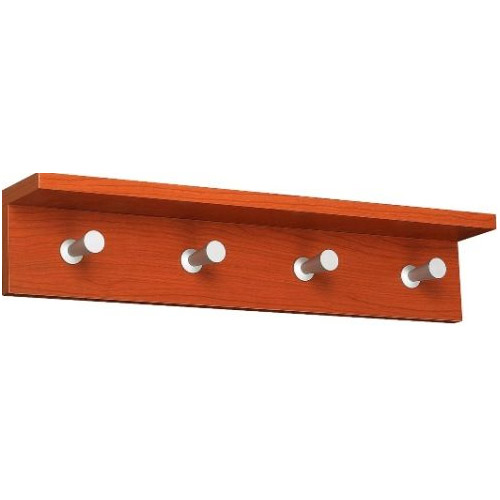 """Safco Contempo Wood Wall Rack, 4 Hook 4221CY"" ES3313"