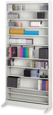 Safco Audio/Video Adjustable Shelving with 12 Shelves 4936LG