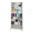 Safco Audio/Video Adjustable Shelving with 12 Shelves 4936LG (Light Gray) ES3330