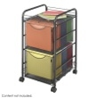 Safco Onyx Mesh File Cart with 2 File Drawers 5212BL ES3336
