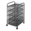 Safco Onyx Mesh File Cart with 4 Drawers 5214BL ES3338