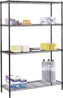 "Safco Commercial Wire Shelving, 48"" x 18"" 5241BL ES3346"