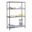 "Safco Commercial Wire Shelving, 48"" x 18"" 5241BL (Black) ES3346"