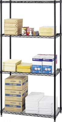 Safco Commercial Wire Shelving, 36 x 18 5276BL ES3353
