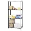 "Safco Commercial Wire Shelving, 36"" x 18"" 5276BL (Black) ES3353"