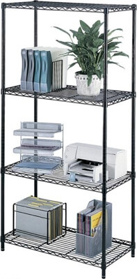 Safco Industrial Wire Shelving, 36 x 18 5285BL ES3356