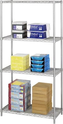 "Safco Industrial Wire Shelving, 36"" x 18"" 5285GR ES3357"
