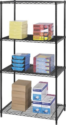 Safco Industrial Wire Shelving, 36 x 24 5288BL ES3362