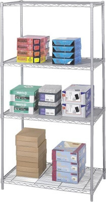 Safco Industrial Wire Shelving, 36 x 24 5288GR ES3363