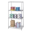 "Safco Industrial Wire Shelving, 36"" x 24"" 5288GR (Metallic Gray) ES3363"