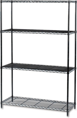 Safco Industrial Wire Shelving, 48 x 18 5291BL