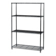 "Safco Industrial Wire Shelving, 48"" x 18"" 5291BL (Black) ES3368"