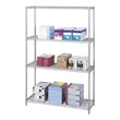 "Safco Industrial Wire Shelving, 48"" x 18"" 5291GR (Metallic Gray) ES3369"