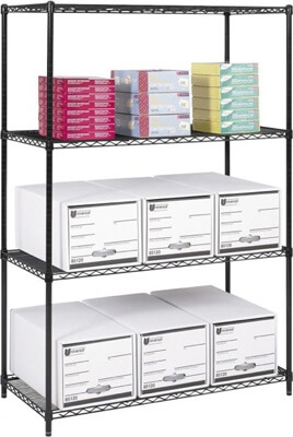 Safco Industrial Wire Shelving, 48 x 24 5294BL