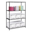 "Safco Industrial Wire Shelving, 48"" x 24"" 5294BL (Black) ES3374"