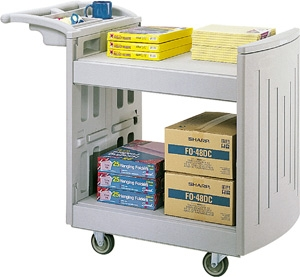 Safco 2-Shelf Molded Utility Cart 5330GR ES3382