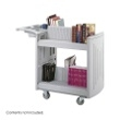 Safco 2-Shelf Molded Book Cart 5332GR ES3383