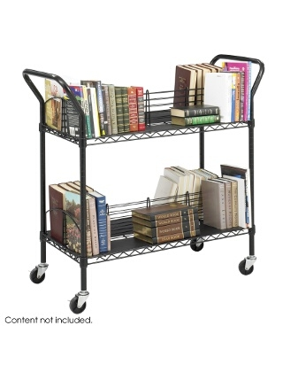 Safco Wire Book Cart 5333BL ES3384