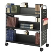 Safco Scoot Double Sided 6 Shelf Book Cart 5335BL (Black) ES3385