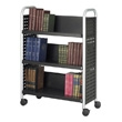 Safco Scoot Single Sided 3 Shelf Book Cart 5336BL (Black) ES3386