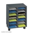 Safco Go Cart 14-Compartment Organizer Cart 5392BL ES3417