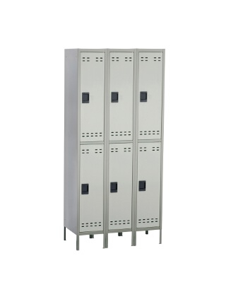 Safco Double Tier Locker 3 Column 5526GR ES3427