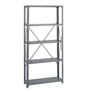 "Safco Commercial Steel Shelving, 36"" x 12"" with 5 Shelves 6265"