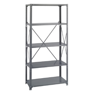 "Safco Commercial Steel Shelving, 36"" x 18"" with 5 Shelves 6266"