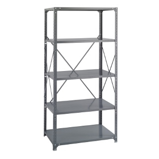 "Safco Commercial Steel Shelving, 36"" x 24"" with 5 Shelves 6267"