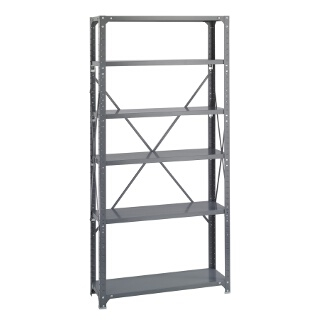 "Safco Commercial Steel Shelving, 36"" x 12"" with 6 Shelves 6268"