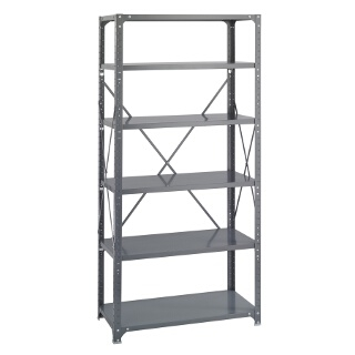 "Safco Commercial Steel Shelving, 36"" x 18"" with 6 Shelves 6269"