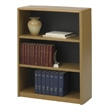 Safco 3-Shelf ValueMate Economy Bookcase 7171MO (Medium Oak) ES3456