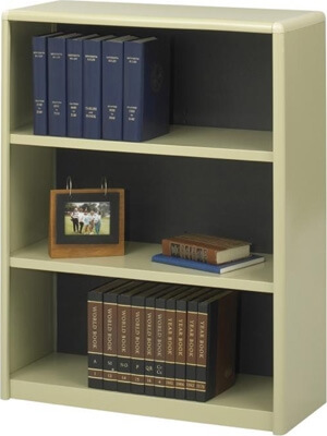 Safco 3-Shelf ValueMate Economy Bookcase 7171SA ES3457