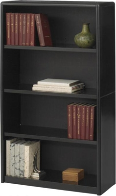 Safco 4-Shelf ValueMate Economy Bookcase 7172BL ES3458