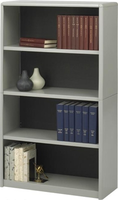 Safco 4-Shelf ValueMate Economy Bookcase 7172GR ES3459