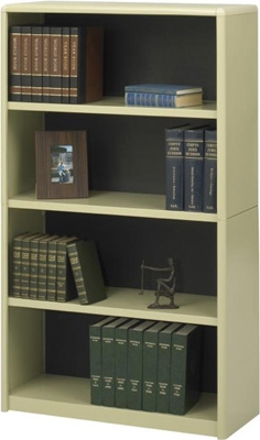 Safco 4-Shelf ValueMate Economy Bookcase 7172SA ES3461