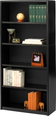 Safco 5-Shelf ValueMate Economy Bookcase 7173BL ES3462