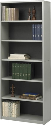 Safco 6-Shelf ValueMate Economy Bookcase 7174GR ES3467