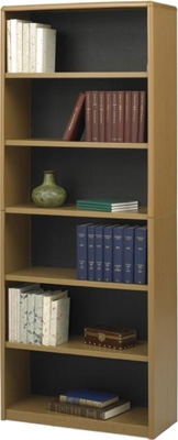 Safco 6-Shelf ValueMate Economy Bookcase 7174MO ES3468