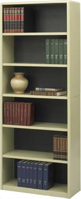Safco 6-Shelf ValueMate Economy Bookcase 7174SA ES3469